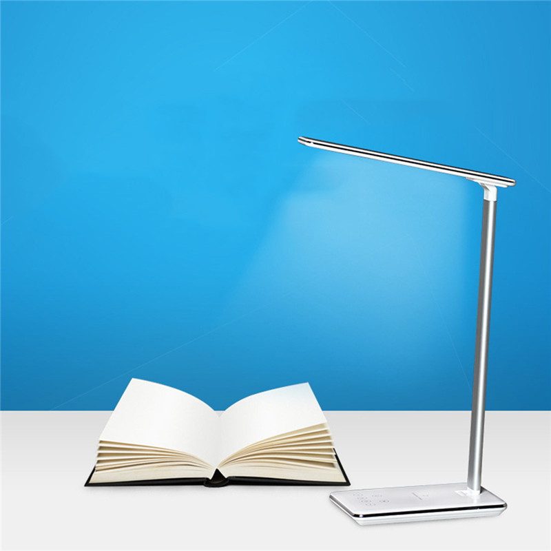 CHENGYILT LED Desk Lamp Foldable Dimmable Rotatable Eye Care LED Touch-Sensitive Controller USB Charging Port Table Lamp new led table lamp 12w foldable 7 levels dimmer rotatable eye care led desk lamp touch sensitive controller usb eu us plug