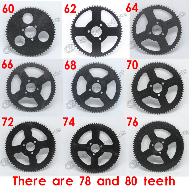 60 62 64 66 68 70 72 74 76 78 80 T Tooth 25H 26MM Rear Sprocket Mini Moto ATV Quad Dirt Pit Pocket Bike Chopper 47CC 49CC