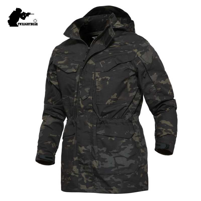 Military Camouflage M65 Men's Tactical Trench Coat High Quality Male Slim Fat Combat Trench Men Brand Army Outwear S-3XL CFPLY16