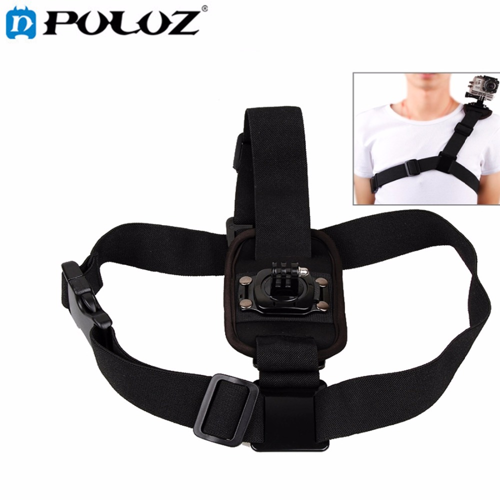 360 Degree Rotary Special Sports Single Shoulder DV Chest Belt for GoPro HERO5 / HERO4 Session / HERO 5 / 4 /3+ / SJ4000