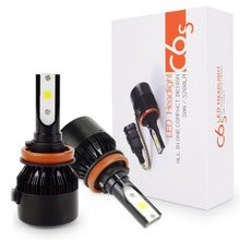 Safego H4 H7 9005 9006 HB3 HB4 H8 H9 H11 LED Car Headlight Bulbs kit 12V 60W 6400LM COB Car LED Headlights Fog Lights Lamp 6500K