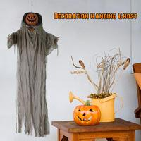 Halloween Pumpkin Ghost Sound Control Lamp Halloween Party Decoration Hanging Ghost #CW