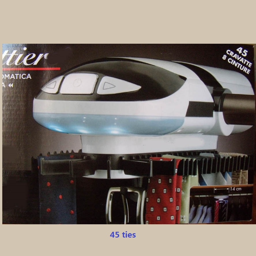 Automatic Tie Rack Built In LED Lights Rotating Closet Organizer Stores U0026  Displays Up To 72 Ties With 8 Belts In Storage Holders U0026 Racks From Home U0026  Garden ...