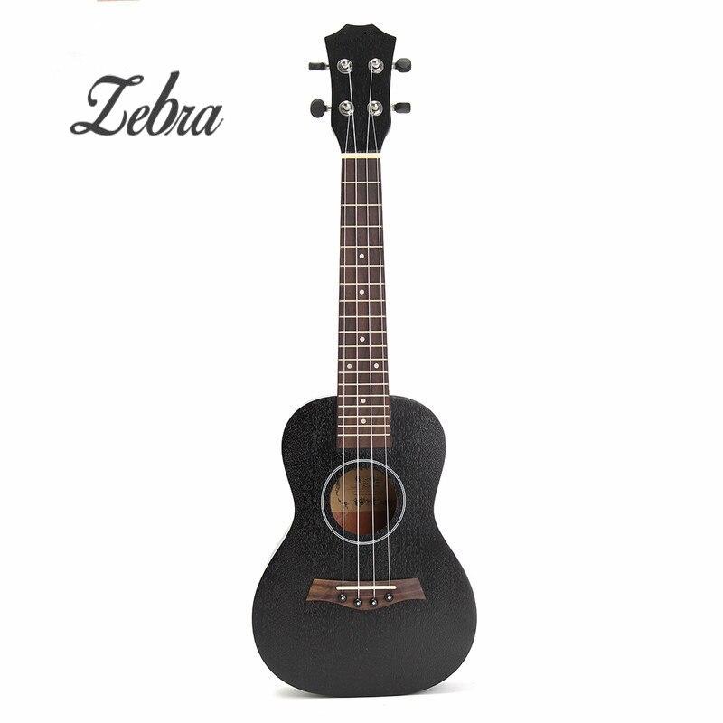 Зебра 23 дюймов черный палисандр гриф концерт укулеле Сапеле Гавайи Ukelele гитары ra бас для Музыкальные инструменты