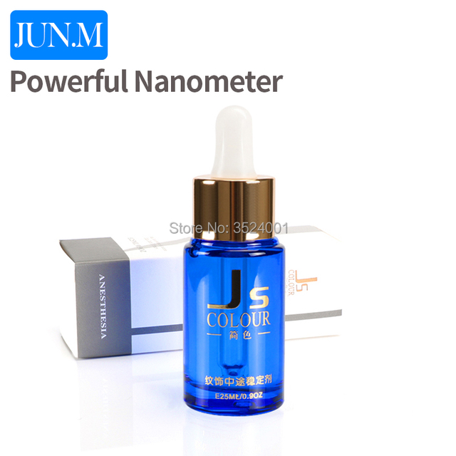 Free Shipping 1 pcs powerful nanometer auxiliary liquid permanent tattoo makeup for eyebrow 25ML