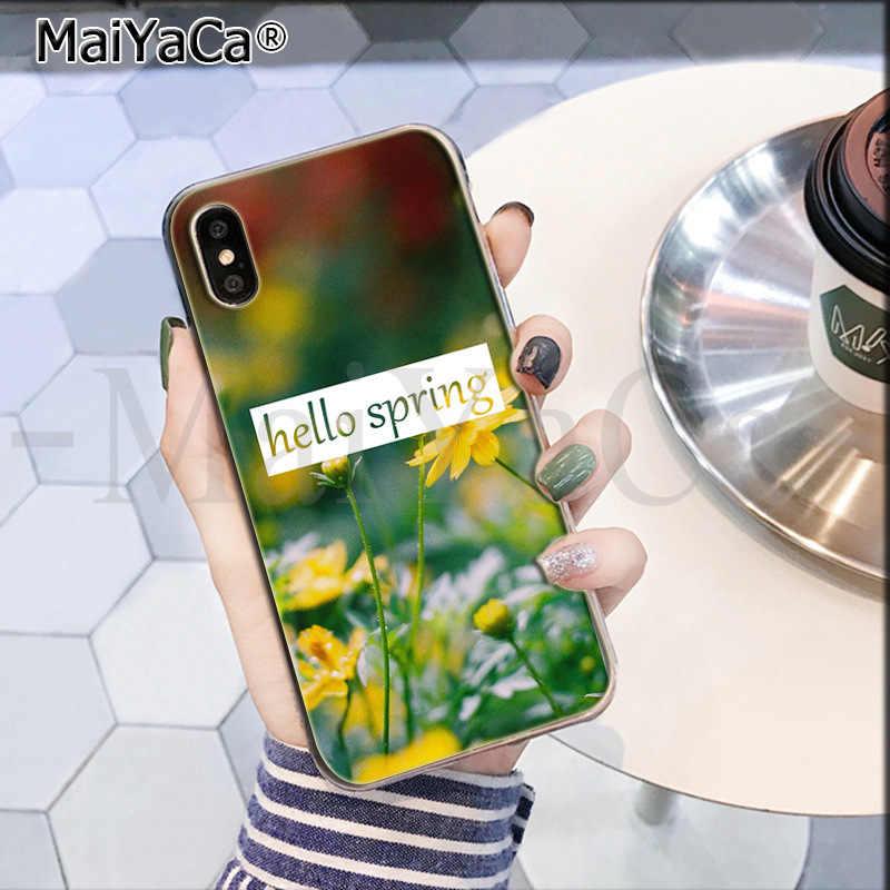 MaiYaCa הלו Spring.jpeg חדש הגעה טלפון Ultrathin מקרה עבור iPhone 8 7 6 6S בתוספת X XS מקסימום 10 5 5S SE XR Coque פגז