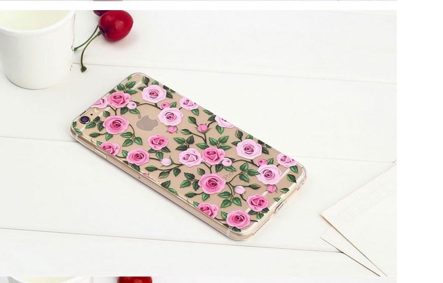 Чехол силиконовый с индивидуальным дизайном «Розовые розы» для iPhone