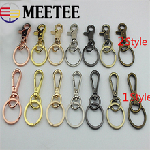 4pcs Meetee Metal Swivel Lobster Dog Clasp Clips Buckle Keychain Car Key Ring Snap Hook Pompom Buckle Luggage Bag Buckle цена