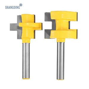 "Image 3 - 2Pcs/Set 1/4 Inch Shank Tongue Groove Router Bit +1/4"" Shank Groove router bit Wood Woodworking Cutting Tools"