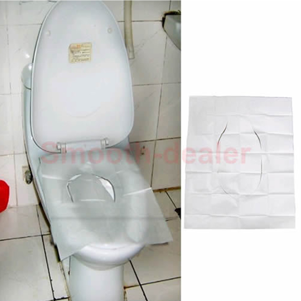 5 Pack 50pcs Lot Disposable Paper Toilet Seat Covers For