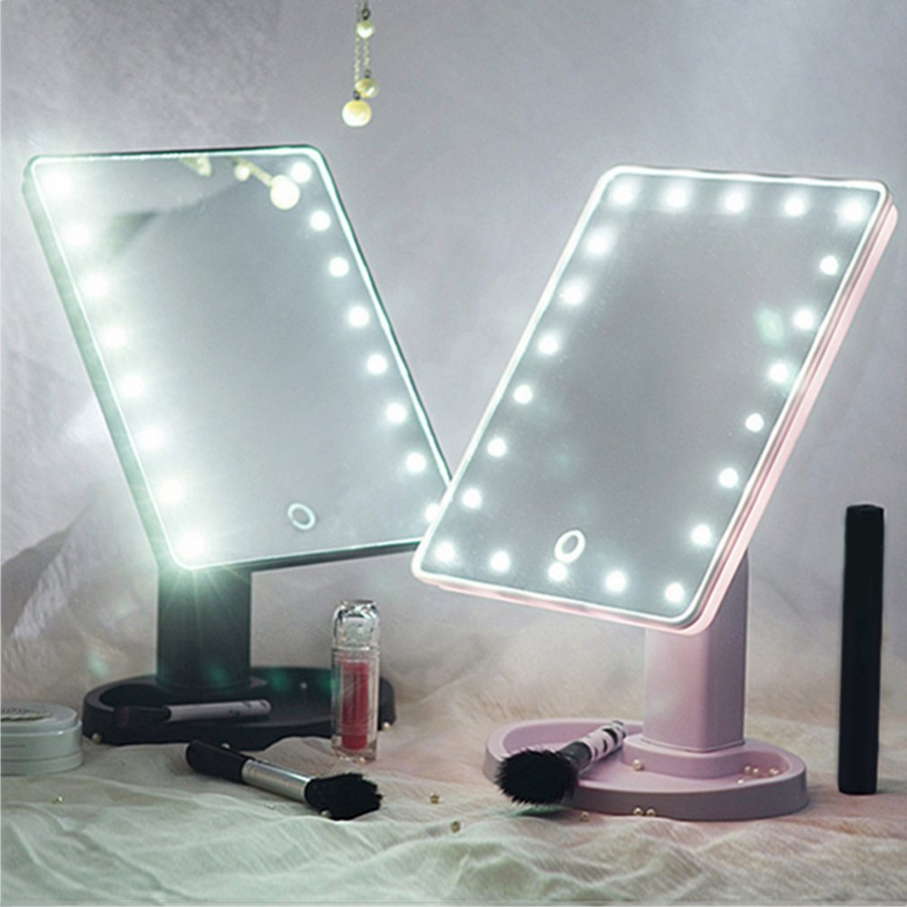 22 LED Magnifying Mirror Led Light Vanity Mirror Maquillage Miroir Beauty Makeup Mirror Lights 360 Rotation Led Mirror Cosmetic