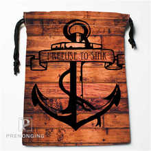 Custom Wood and Anchor Drawstring Bags Printing Fashion Travel Storage Mini Pouch Swim Hiking Toy Bag Size 18x22cm #171208-06