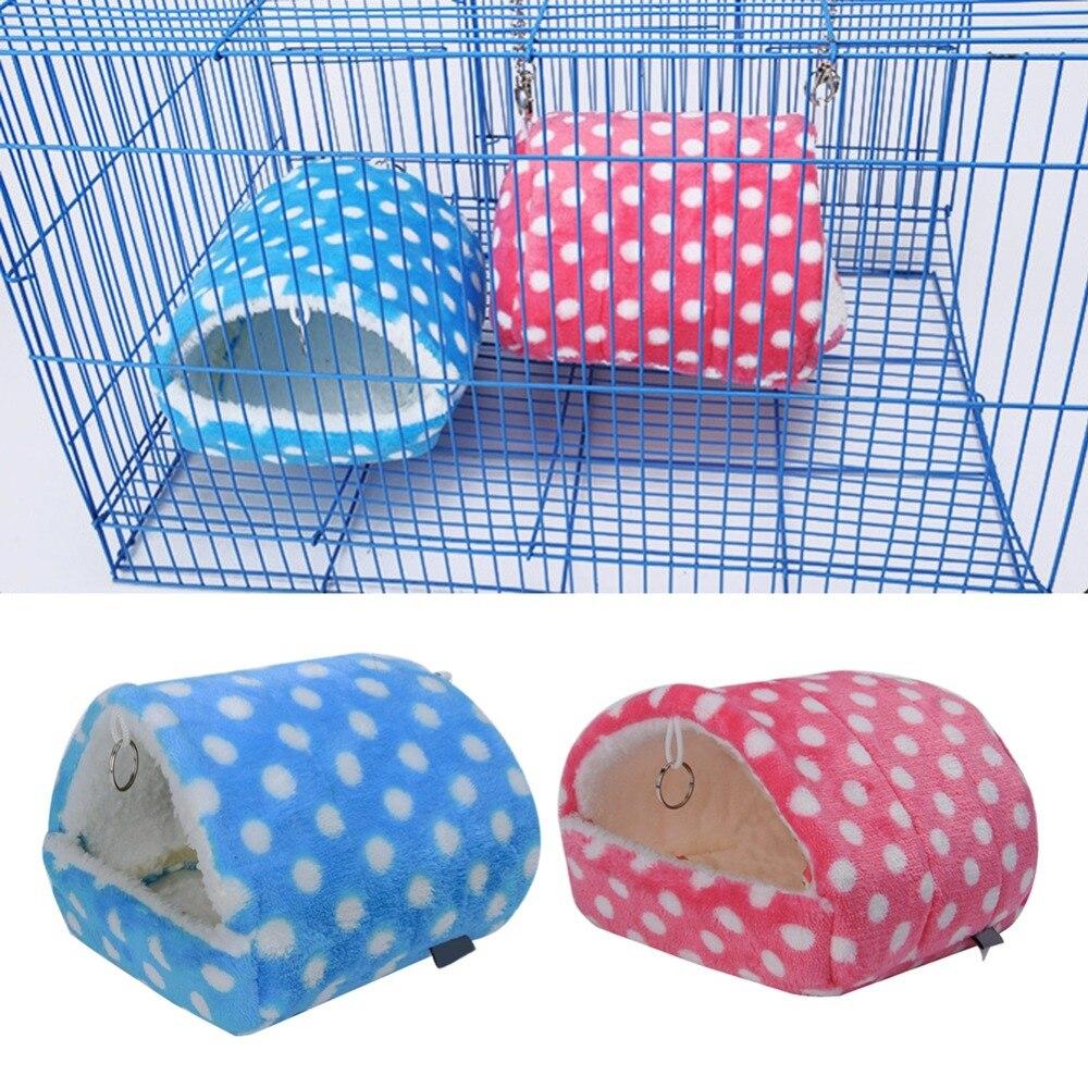 Милые для небольшого животного, питомца домик хомяка кровать для крыс белок Гвинея зимние теплые подвесной домик клетка хомяк подстилка для домашнего питомца