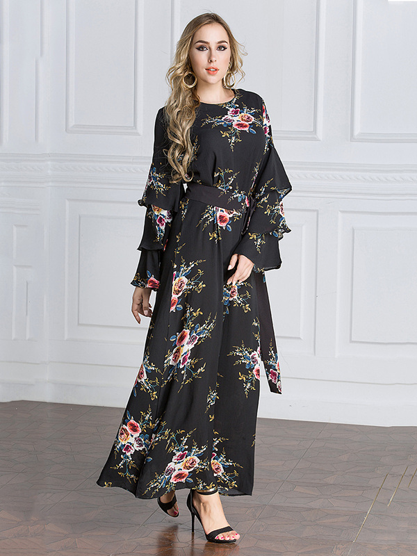 Muslim Dubai section 2018 hot drilling robe Middle East large size women's clothing