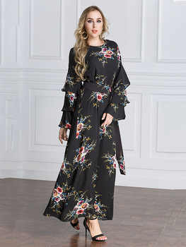 Muslim Dubai section 2018 hot drilling robe Middle East large size women\'s clothing