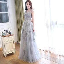 Elegante Spitze Abendkleider Open Back Abend Party Kleid Perlen eine Linie Scoop Robe de soiree Real Photo Formale Partei kleid