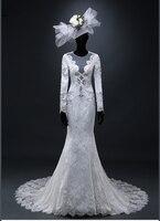 Lace Wedding Dresses With Deep V Neck See Through Back Customize Vestidos De Novia Casamento Sexy