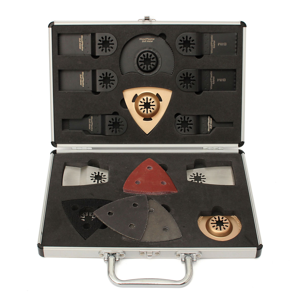 34pcs Antler Blades Case Multimaster Set For Bosch Fein Makita Oscillating Multi