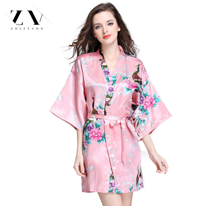 Silk Dressing Gowns Ladies: Silk Robes For Women Lingerie Japanese Women's Pajamas