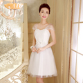 PTH-538BS#Real photos prom dress wholesale custom company will host the 2016 spring new bride toast short Bridesmaid dress White