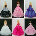 30 itens = 10 vestido + 10 + 10 acessórios da Party Doll Vestido Roupas Vestido Para Barbie doll