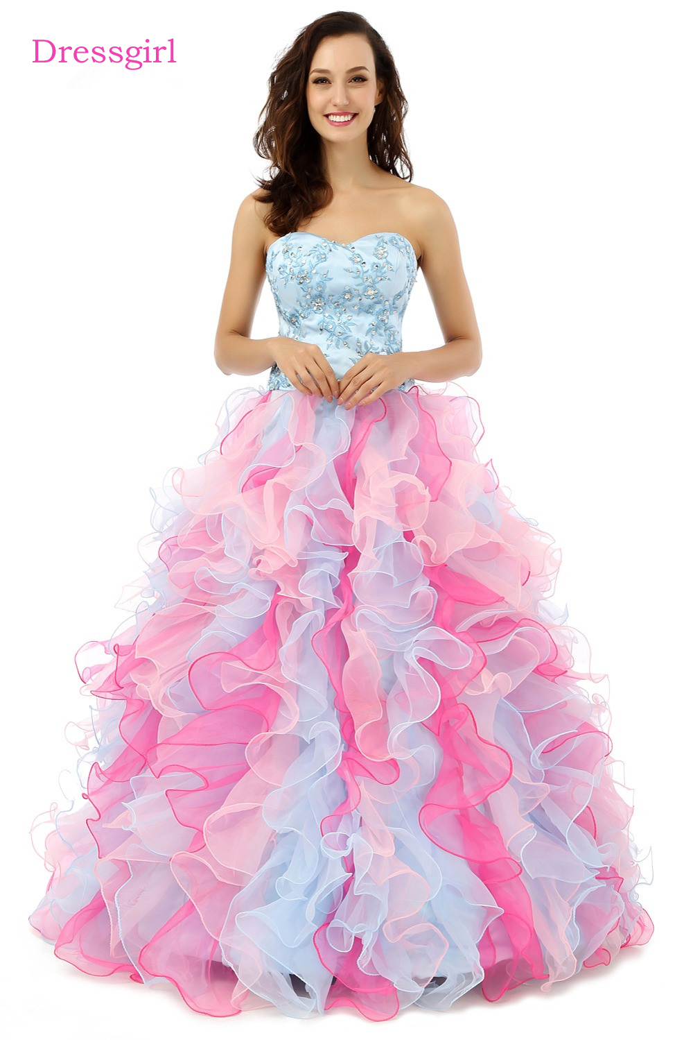 Bonito Vestido De Novia Con Balón Cresta - Ideas de Estilos de ...