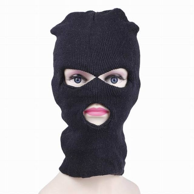 Black Full head Cover Knit Ski CS robber Mask Hood Balaclava Beanie Army  Stocking Hats Scarf Cap wigs winter windproof face d95dd4e4efc