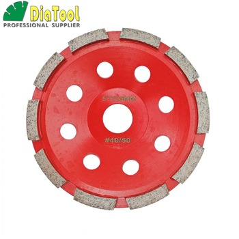 цена на DIATOOL 5 Inch (125mm) Single Row Cup Wheel For Concrete, Grinding Disc, Grinding Wheel, Bore 22.23mm