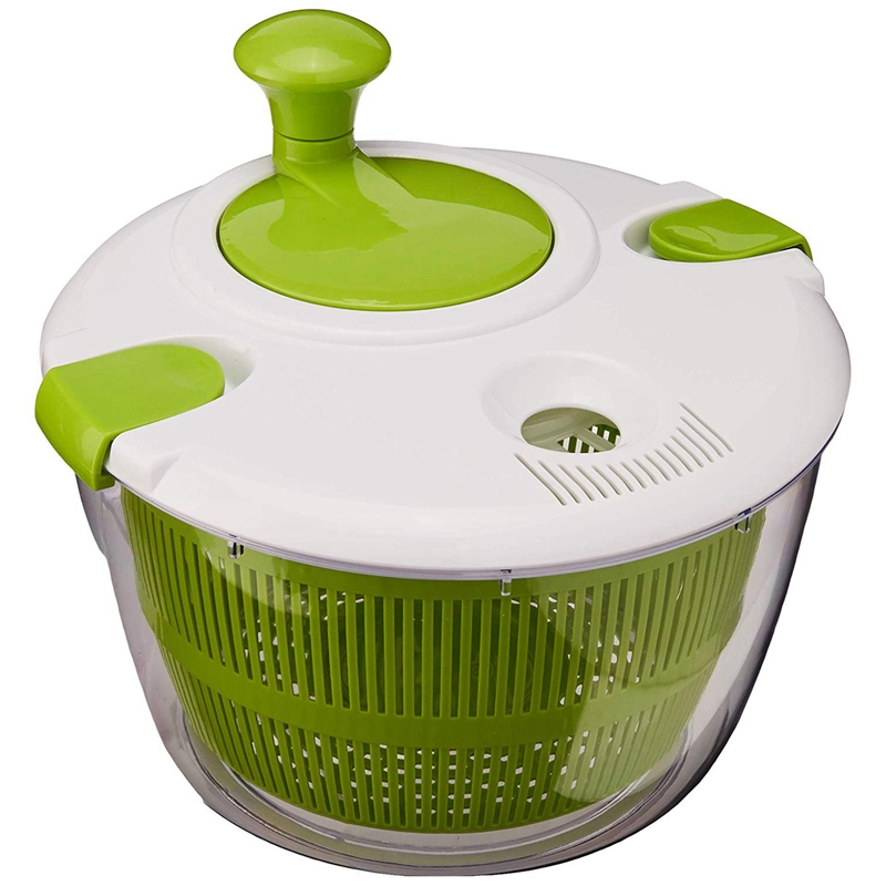 Ctg-00-Sas Salad Spinner, Green And White