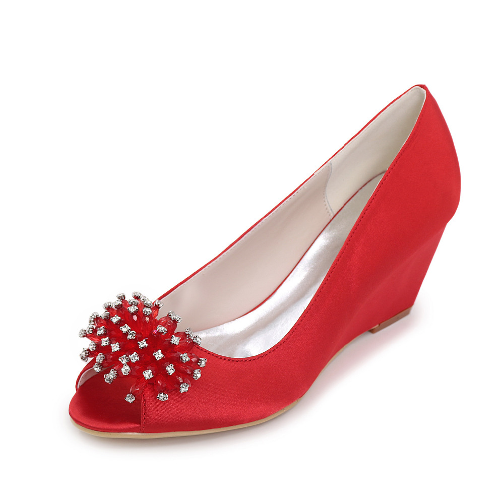 Red Satin Evening Shoes Promotion-Shop for Promotional Red Satin ...