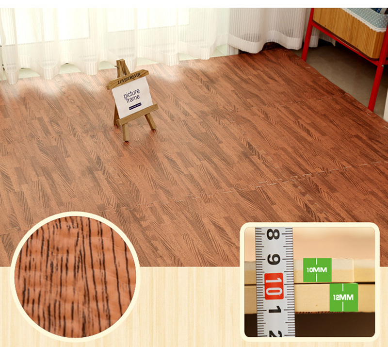 Pcs lot home floor wood grain play mat carpet exercise gym garage