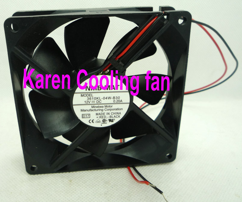 Купить с кэшбэком New Original NMB 9cm 9225 12V 0.2A 3610KL-04W-B30 2wire  cpu cooler heatsink axial Cooling  Fan