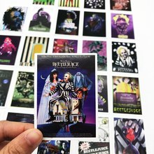 25pcs Mixed Beetlejuice poster Sticker Graffiti Tim Burton Movie Stickers for Laptop Luggage Waterproof DIY toy Sticker(China)