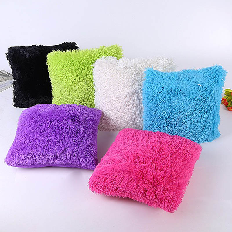 Plush Cushion Plush housse de coussin capa de almofada decorativa sofa throw pillow covers Fur cojines kussenhoes cuscini