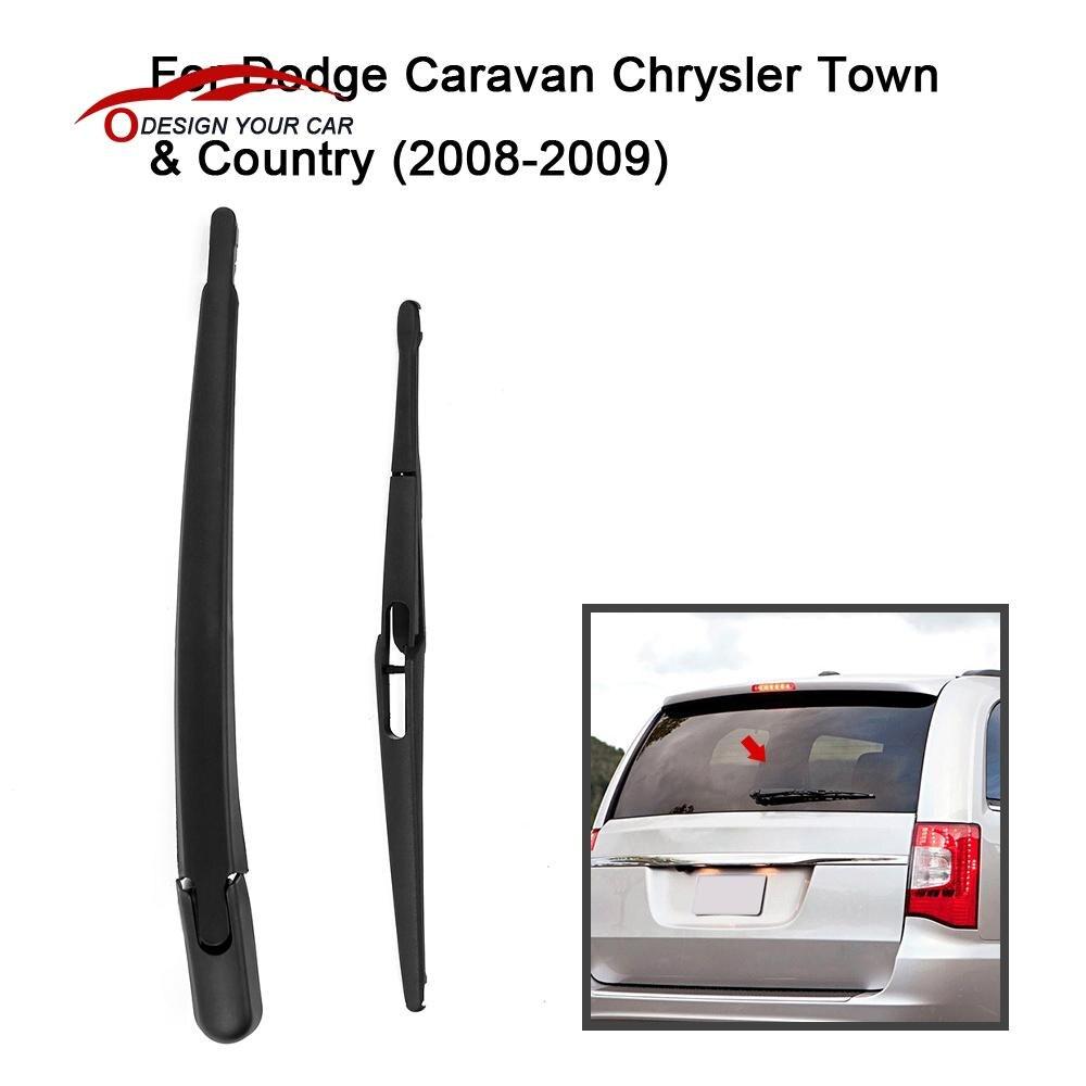 Prix pour Voiture Arrière Fenêtre D'essuie-glace Arm & Lame Remplacement Complet pour Dodge Caravane Chrysler Town & Country 2008-2009