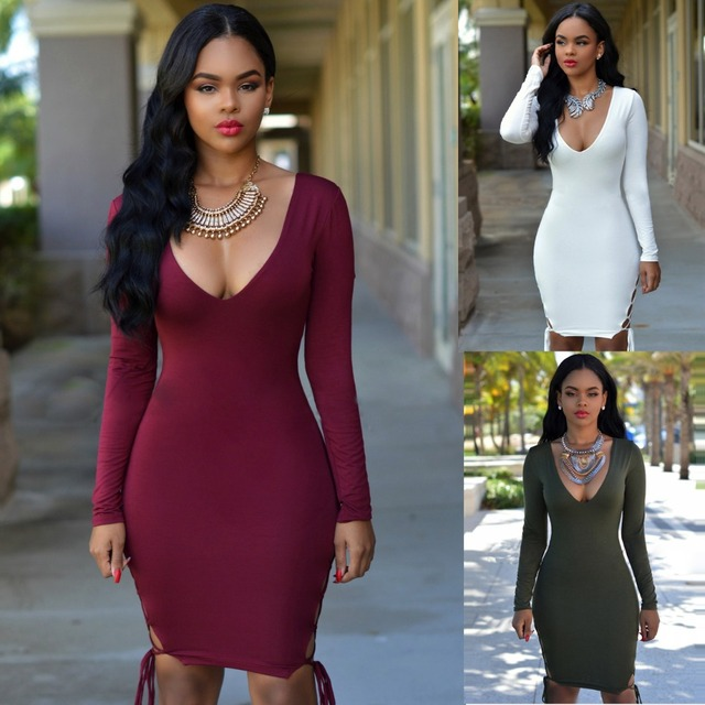 Long Sleeve Party Dresses Night Out