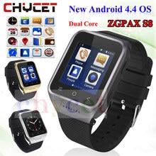 ZGPAX S8 смартфон Bluetooth Smart Часы Android 4.4 MTK6572 двухъядерный GPS 2.0MP Камера WCDMA Wi-Fi MP3 MP4 SmartWatch pk q18 U8