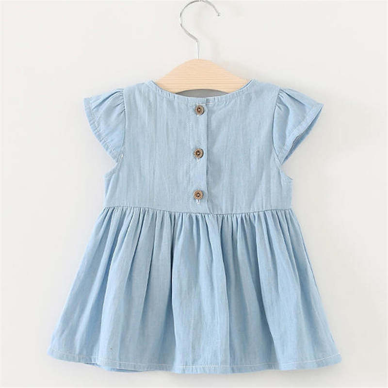 Cotton Baby Dresses Summer Children Clothing 2018 Baby Girl Clothes Roupas Bebe Infant Jumpsuits Kids Clothes Cute Baby Dress