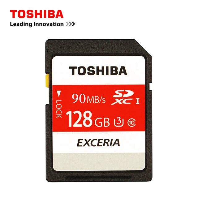 Toshiba Карты Памяти SD UHS U3 128 ГБ 90 МБ/с. 600x16 GB 32 ГБ SDHC карты SD 64 ГБ SDXC Карты Flash Для Цифровых ЗЕРКАЛЬНЫХ Фотокамер Видеокамера DV