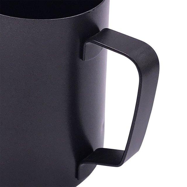 Black Milk Jug For Steaming And Latte Art 4