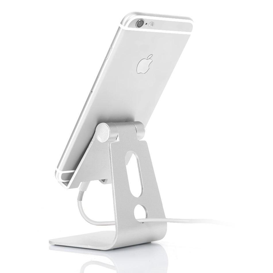 Newest Universal Mobile Phone Tablet Holder Adjustable Aluminum Desk Stand Holder for iPad Mini for iPhone Samsung Smartphone