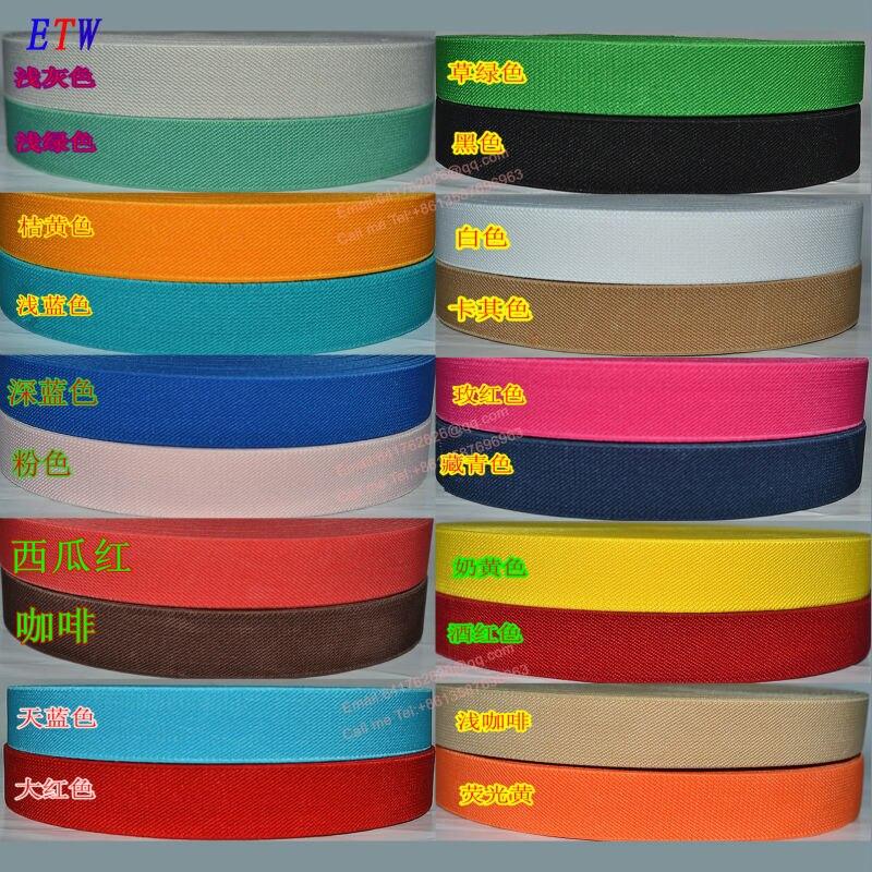 Zesílení 25 mm barevné elastické pásky 5 metrů / lot, 20 barev - Umění, řemesla a šití