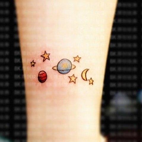 Водонепроницаемый Временные татуировки Стикеры милые звезд, Луны мультфильм Tatto Стикеры s flash tatoo поддельные татуировки для девочка дети ребенок подарок 4