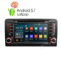 Newest 7 Android 5 1 Lollipop Quad Core DVD 2 Din Car Stereo GPS For Audi