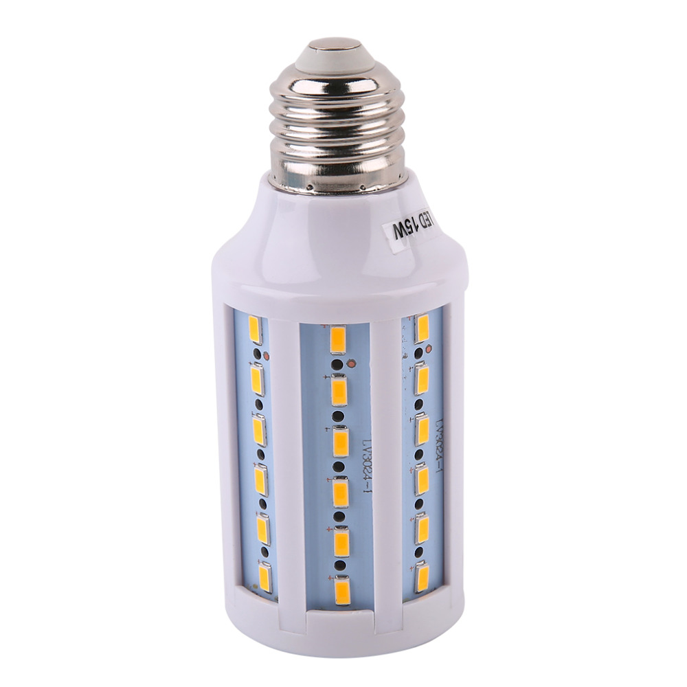 ICOCO 2017 Newest High Power 220V 60 LED Beads Lamp Corn Bulb Spotlight SMD 5730 LED E27 1200LM 15W Warm White