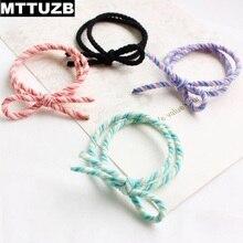 10pcs MTTUZB women fashion bowknot elastic hair band lady's girl's hair rope female headdress accessories