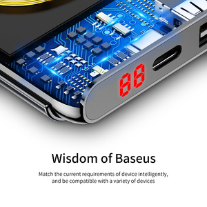 Image 5 - Baseus 10000mAh Quick Charge 3.0 Power Bank Portable USB C PD Fast Qi Wireless Charger Powerbank For Xiaomi mi External Battery