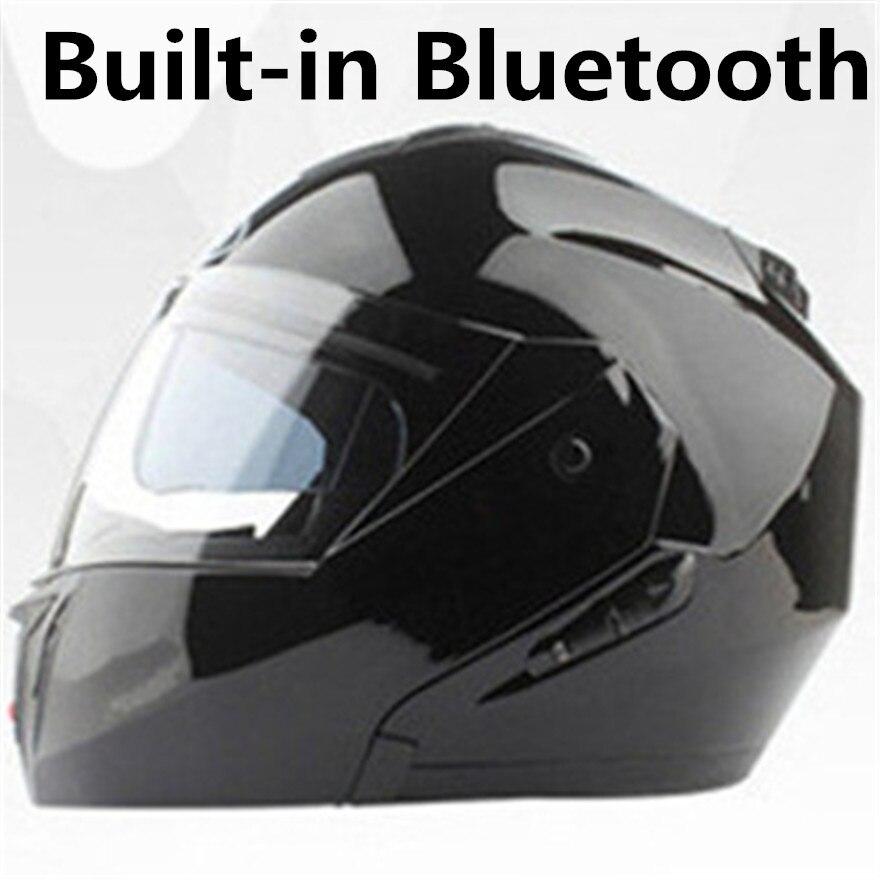HOT SELL 2018 Bluetooth Motorcycle Helmet Built in Intercom System Dot Standard Helmet Riders BT Talking