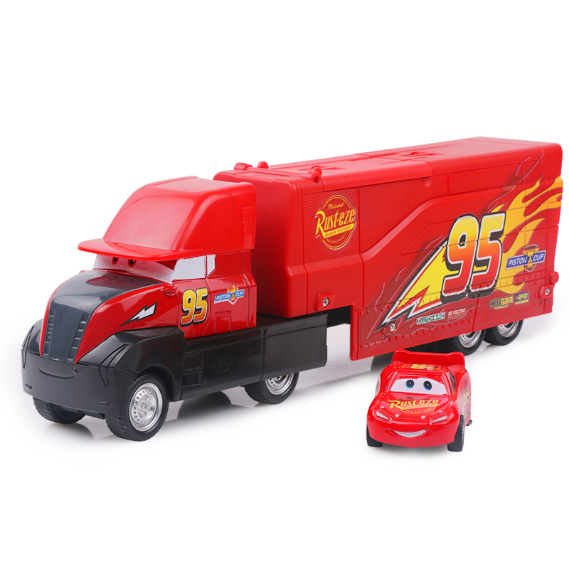 Car Christmas.Us 17 98 32 Off 29cm Disney Pixar Cars 3 Big Size Lightning Mcqueen Mack Uncle Truck Plastic Model Car Christmas Birthday Gift Children Toy In