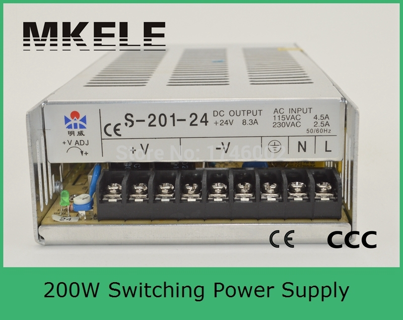 ФОТО high quality safe standards nice quality 201W 24V 8.3A Single Output Switching power supply for LED Strip light AC-DC S-201-24